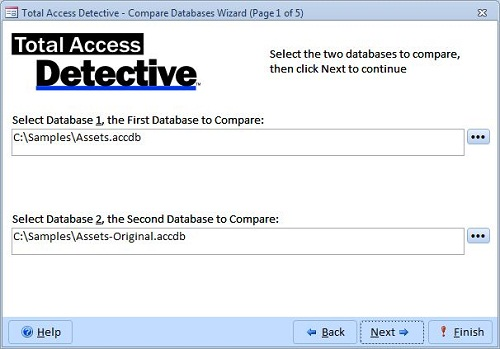 Compare Two Microsoft Access Databases for Differences