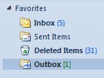 how to delete outbox message in outlook