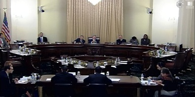 House Homeland Security Committee with Luke Chung seated on the Witness Panel