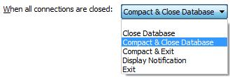 Compact Microsoft Access Database When All Users Exit